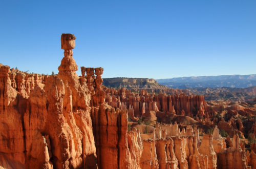 Thors Hammer and hoodoos in Bryce Canyon National Park, Utah