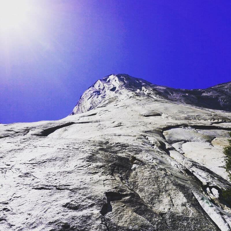 granite monolith in yosemite national park