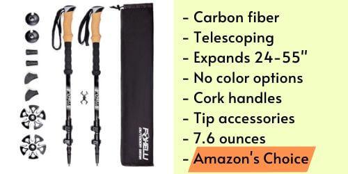 best budget carbon fiber trekking poles