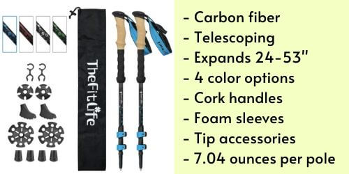 best budget lightweight carbon fiber trekking poles