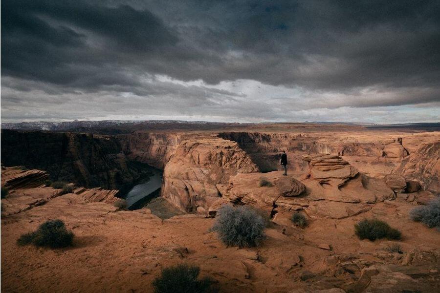 storm over colorado river