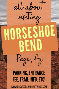 visiting horseshoe bend in page arizona