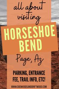 visiting horseshoe bend in page arizona