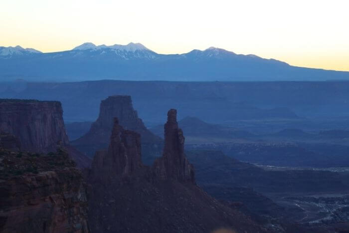 mountains and canyons