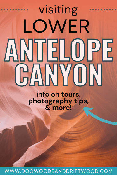 touring lower antelope canyon