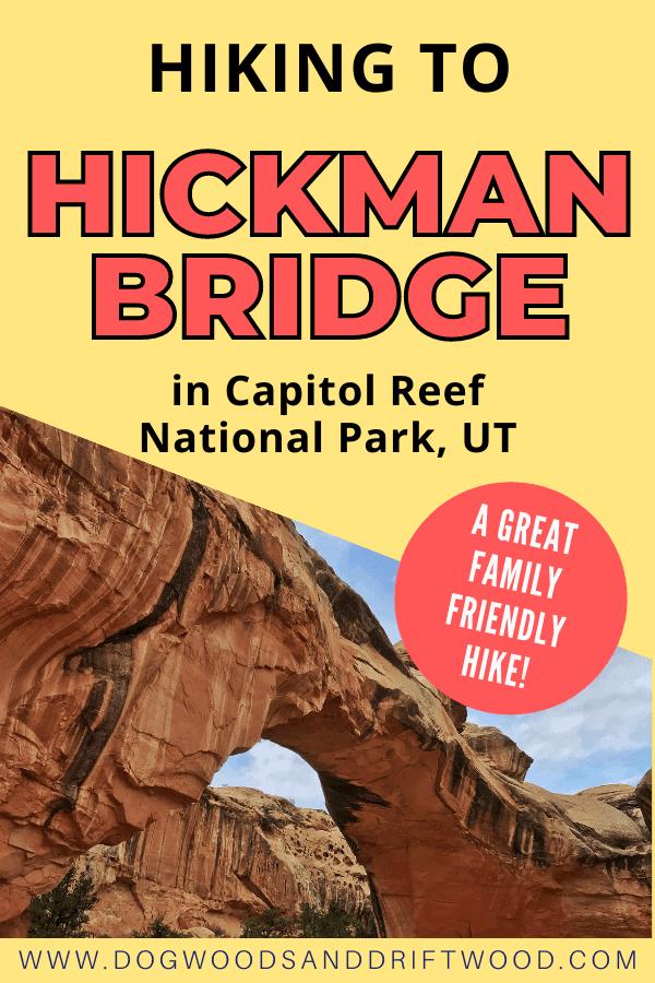 hiking to hickman bridge in capitol reef national park, utah