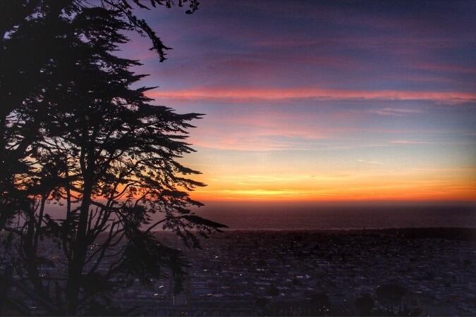 sunset over san francisco